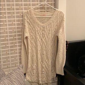 Cream long sweater